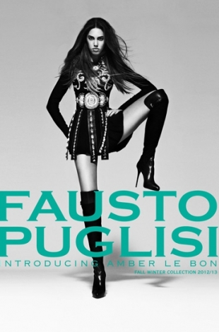 Amber Le Bon for Fausto Puglisi Fall/Winter 2012