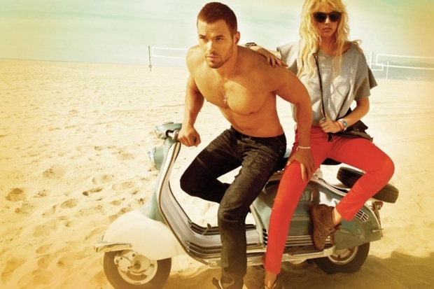 Kate Upton and Kellan Lutz in Abbot Main Fall 2012 Campaign
