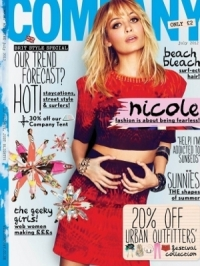 Nicole Richie Covers Company July 2012