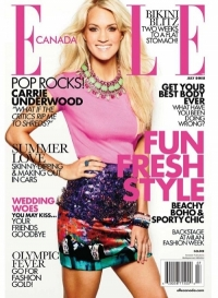 Carrie Underwood Covers Elle Canada July 2012