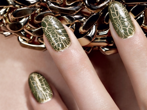 Dior Golden Jungle Fall 2012 Crackle Nail Polish