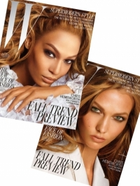 Karlie Kloss and Joan Smalls Heat Up W Magazine July 2012