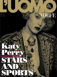 Katy Perry Graces the Cover of L'Uomo Vogue Italy July/August 2012