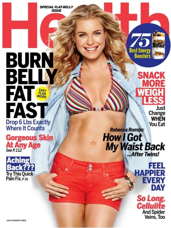 Rebecca Romijn Shares Fitness Secrets with Health Magazine July/August 2012