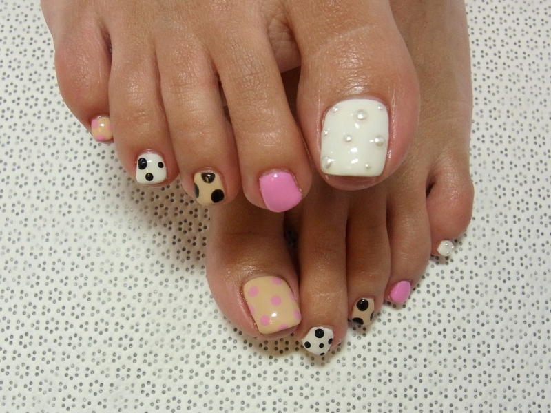 Stylish pedicure nail art designs for summer prinsesfo Images