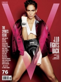 Jennifer Lopez Sexy Tomboy for V Magazine Sports Issue
