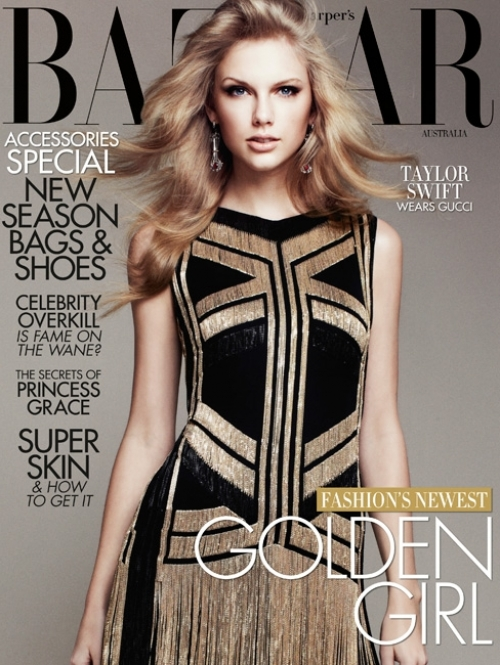 Taylor Swift Covers Harpers Bazaar Australia April 2012