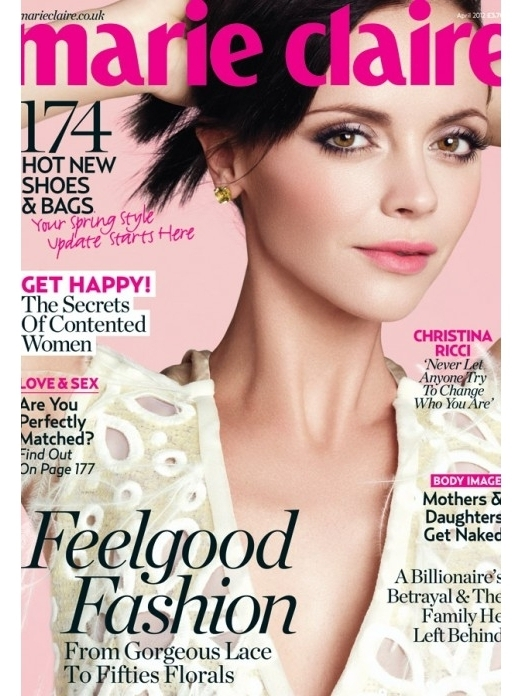 Christina Ricci Covers Marie Claire UK April 2012