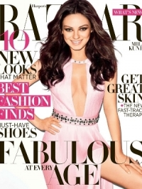 Mila Kunis Covers Harper's Bazaar April 2012