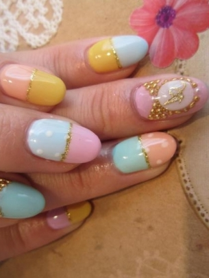 Funky Nail Art Idea