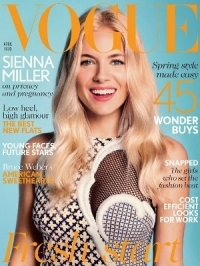 Sienna Miller Talks Pregnancy with Vogue UK April 2012