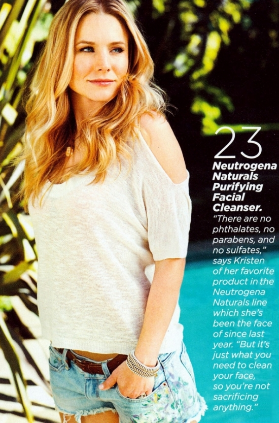 Kristen Bell Talks Healthy Eating with Womens Health April 2012