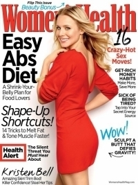 Kristen Bell Talks Healthy Eating with Women's Health April 2012