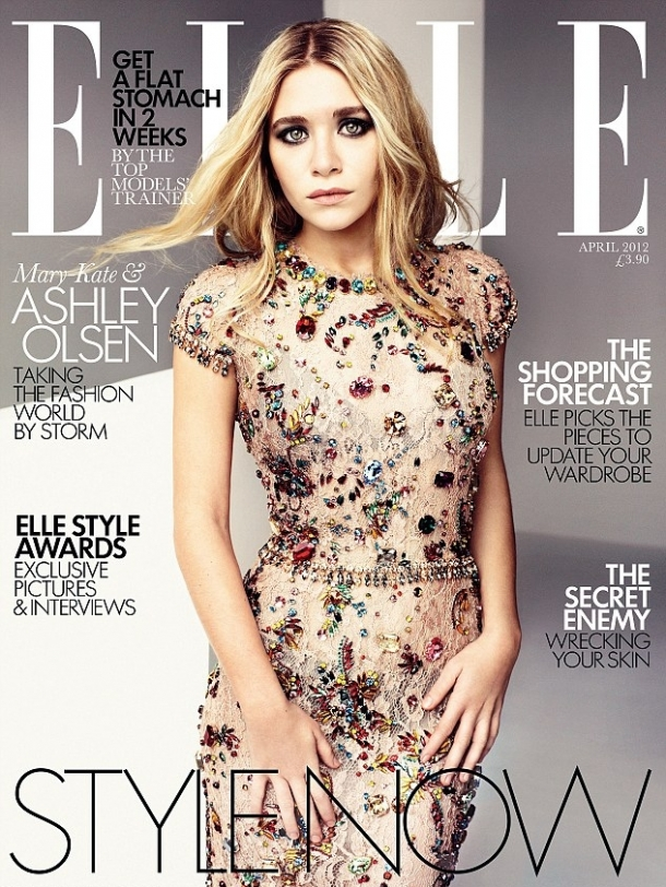 Mary-Kate and Ashley Olsen Cover Elle UK April 2012