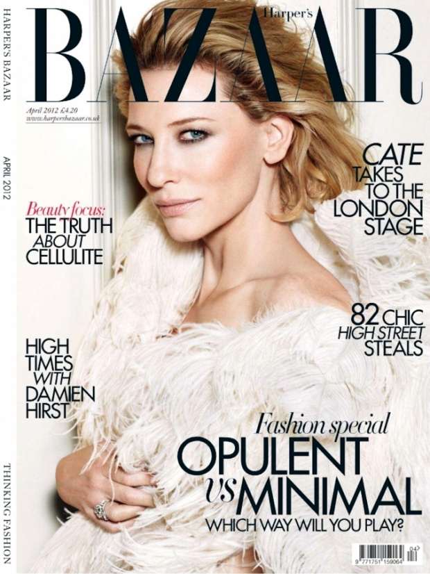 Cate Blanchett Covers Harpers Bazaar UK April 2012