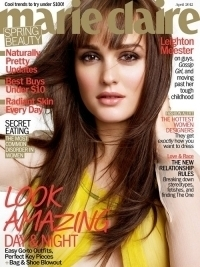 Leighton Meester Covers Marie Claire April 2012