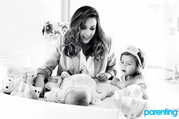 Jessica Alba Covers Parenting April 2012