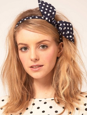 Polka Dot Head Scarf