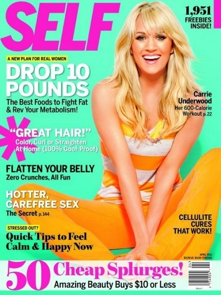 Carrie Underwood Shares Diet and Fitness Tips with SELF Magazine April 2012