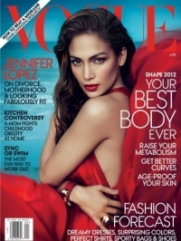Jennifer Lopez Covers Vogue April 2012 Shape Issue