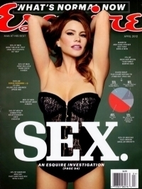 Sofia Vergara Sexy Lingerie Babe in Esquire April 2012