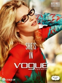 Kate Moss for Vogue Eyewear Spring/Summer 2012 Campaign