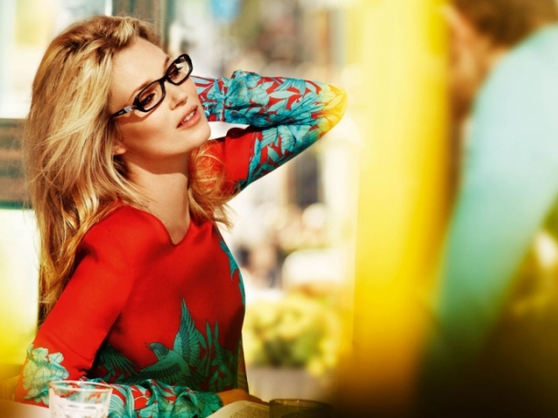 Kate Moss For Vogue Eyewear Spring 2012 Campaign
