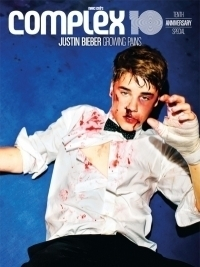 Justin Bieber Takes a Punch for Complex's 10th Anniversary Issue