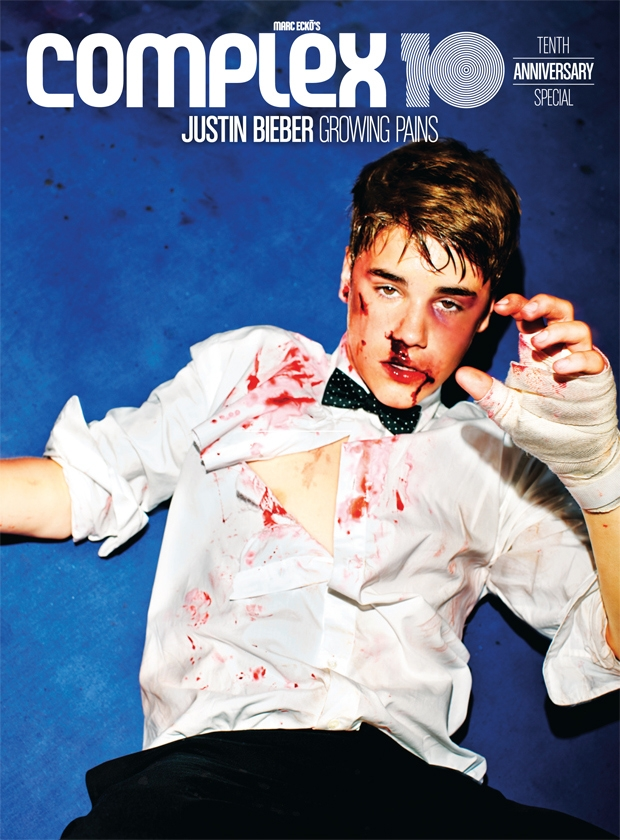 Justin Bieber Takes A Punch For Complex S 10th Anniversary
