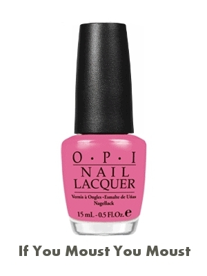OPI Minnie Mouse Nail Polish If You Moust You Moust