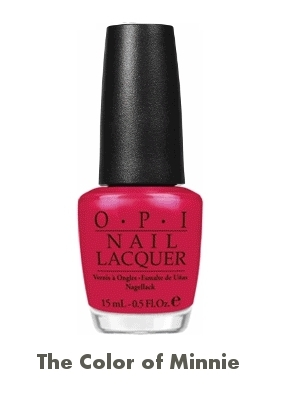 OPI Minnie Mouse Nail Polish The Color of Minnie