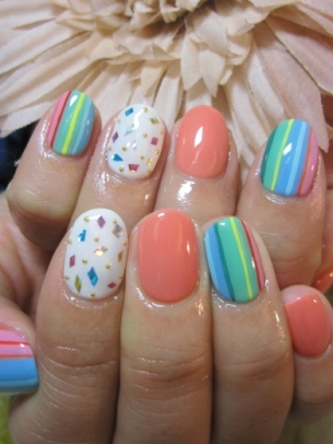 Hairstyle And Care Tips Flirty Spring Nail Art Ideas