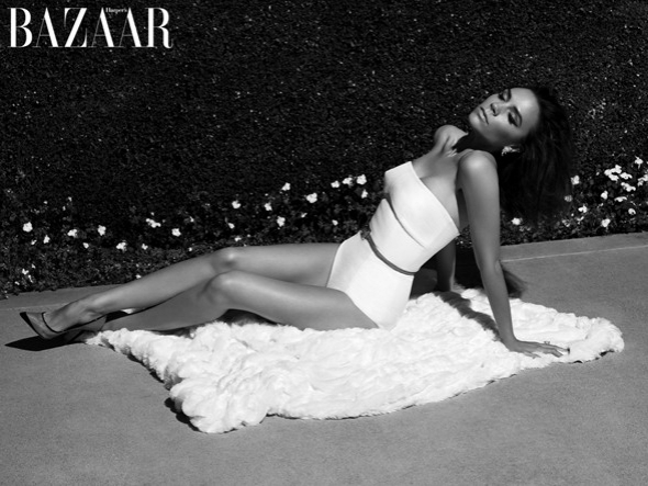 Victoria Beckham Covers Harpers Bazaar UK May 2012
