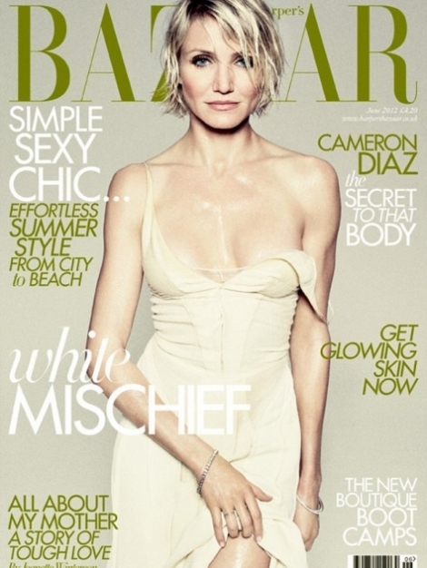 Cameron Diaz Covers Harpers Bazaar UK June 2012