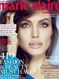 Angelina Jolie Covers Marie Claire UK June 2012