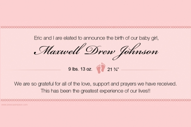 Jessica Simpson Welcomes Baby Girl Maxwell Drew