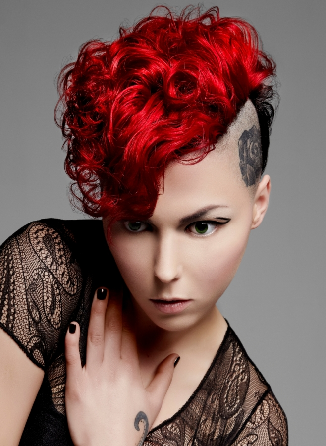 Punk Red Hair Color