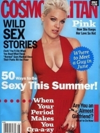 Pink Covers Cosmopolitan June 2012 | Talks Love and Pregnancy