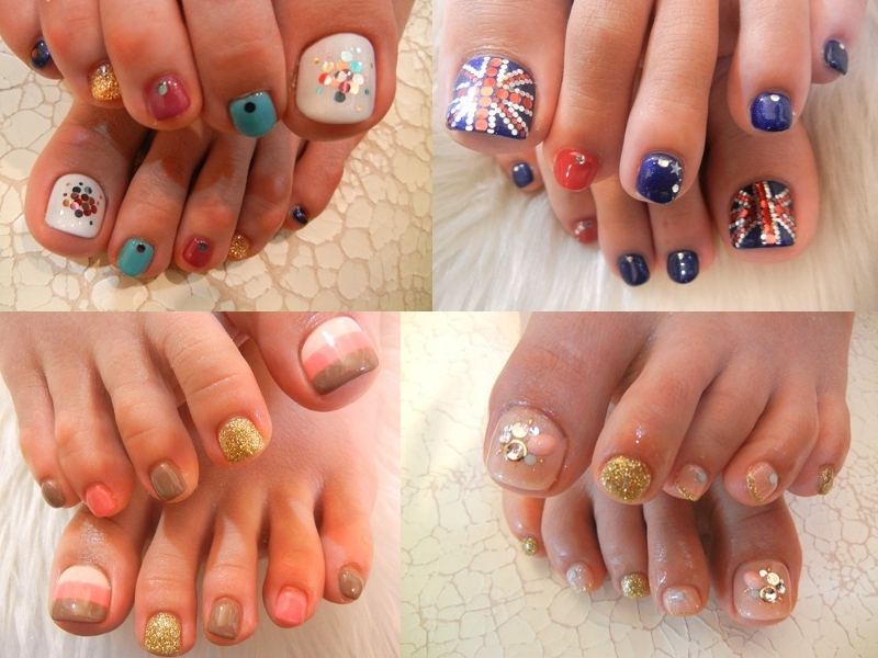 Pedicure Nail Art Designs for Summer.