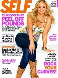 Miranda Lambert Talks Pressure to Be Slim with SELF Magazine June 2012