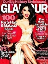 Selena Gomez Heats Up Glamour Magazine December 2012