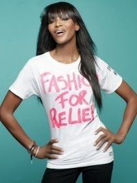 Naomi Campbell and YOOX Launch Fashion For Relief T-Shirts