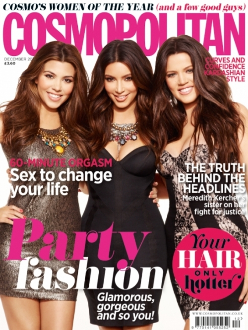 The Kardashian Sisters Glam Up Cosmopolitan UK December 2012