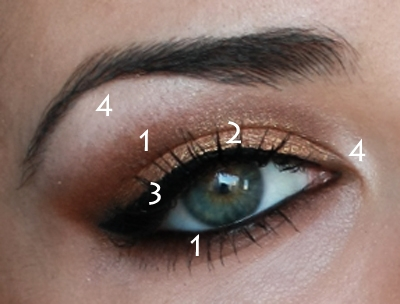 Party Makeup: Gold Copper Eyes Tutorial. - photo#22