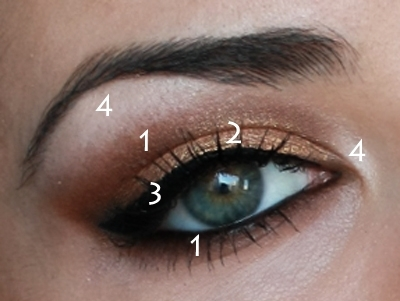 Gold Copper Eye Makeup Look