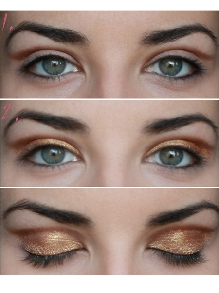 Party Makeup: Gold Copper Eyes Tutorial