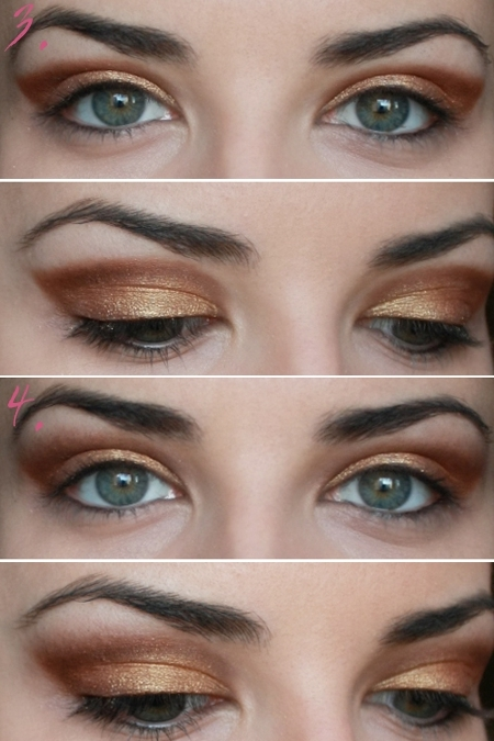 Party Makeup: Gold Copper Eyes Tutorial.