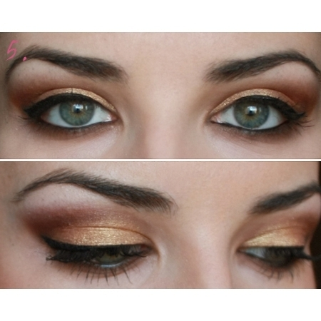 Party Makeup: Gold Copper Eyes Tutorial. - photo#32