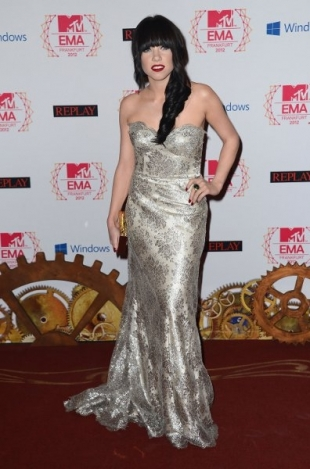Carly Rae Jepsen Red Carpet Dress 2012 MTV EMAs