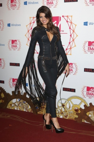 Isabeli Fontana Jumpsuit 2012 MTV EMAs Red Carpet